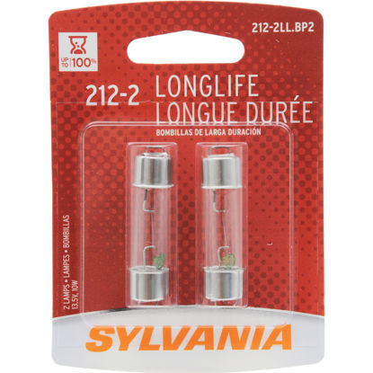 Picture of 212-2LL.BP2 Long Life Blister Pack Twin Courtesy Light Bulb  By SYLVANIA