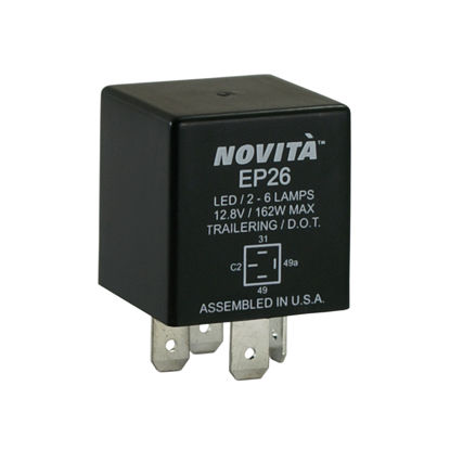 Picture of EP26 Hazard Warning and Turn Signal Flasher  By NOVITA FLASHERS