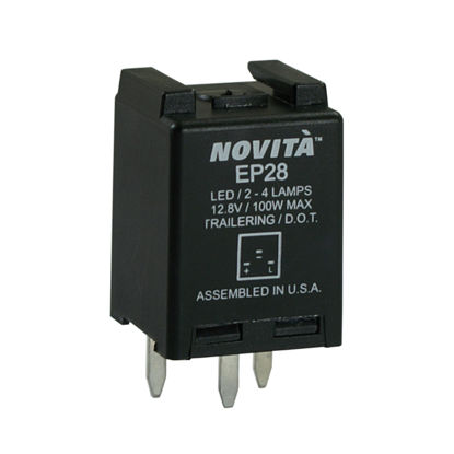Picture of EP28 Hazard Warning and Turn Signal Flasher  By NOVITA FLASHERS