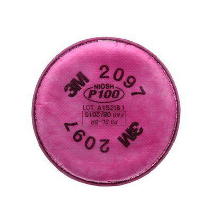 Picture of 3M™ Particulate Filter, 2097, P100, with nuisance level organic vapour relief