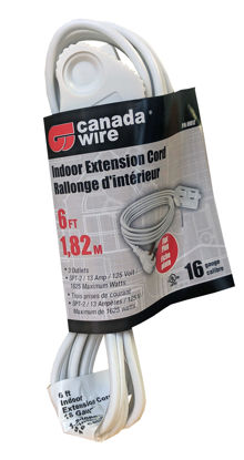 Picture of Canada Wire - 16-2 SPT-2 Flat Plug 3 Outlet Cube, White, 6FT