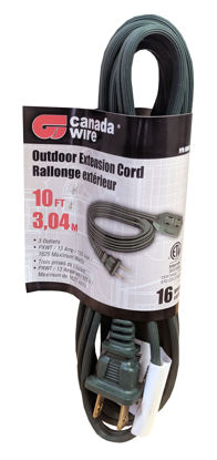 Picture of Canada Wire - 16-2. 3 Outlet Cube Outdoor Extension Cord, Green 10FT