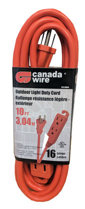Picture of Canada Wire 16-3 - 3 Outlet Extension Cord, Orange, 10FT