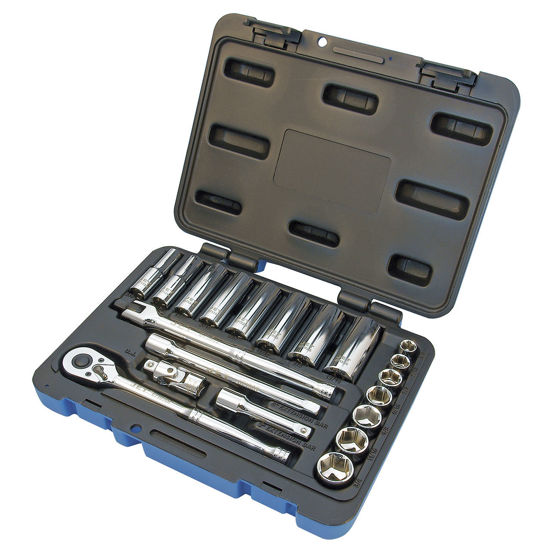 "Picture of Jet 600229 - (SW3821-6) 21 PC 3/8"" DR S.A.E. Socket Wrench Set - 6 Point"