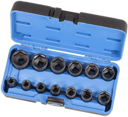 Picture of Jet 1/2-inch Drive, 13-Piece Deep SAE Professional Impact Socket Set, 6 Point, 610321