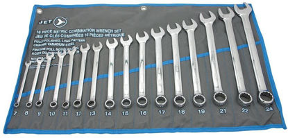 Picture of Jet 16-Piece Long Metric Fully Polished Combination Wrench Set, 700185