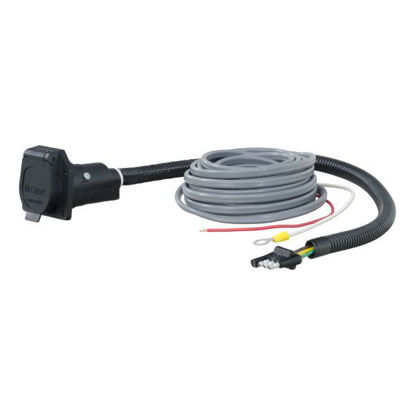 Picture of Curt 57186   Curt 4-Way Flat To 7-Way Round RV Blade Wiring Adapter