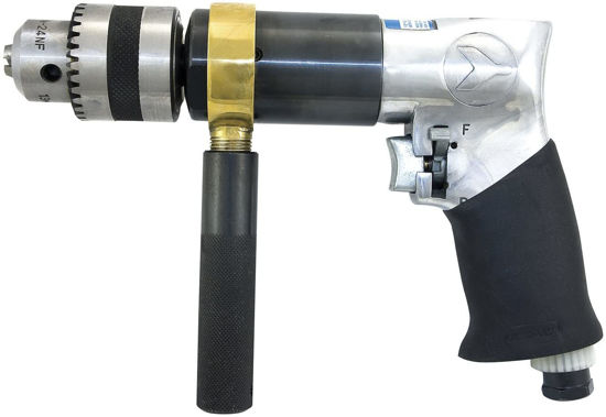 """Picture of JET 404422 - 1/2"""" Reversible Pistol Grip Air Drill - Keyed Chuck - Heavy Duty"""