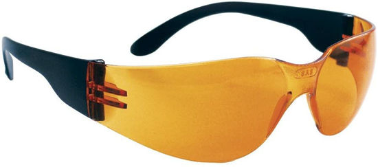 Picture of SAS Safety - 5342 NSX Safety Glasses - Black Temple - Orange Lens